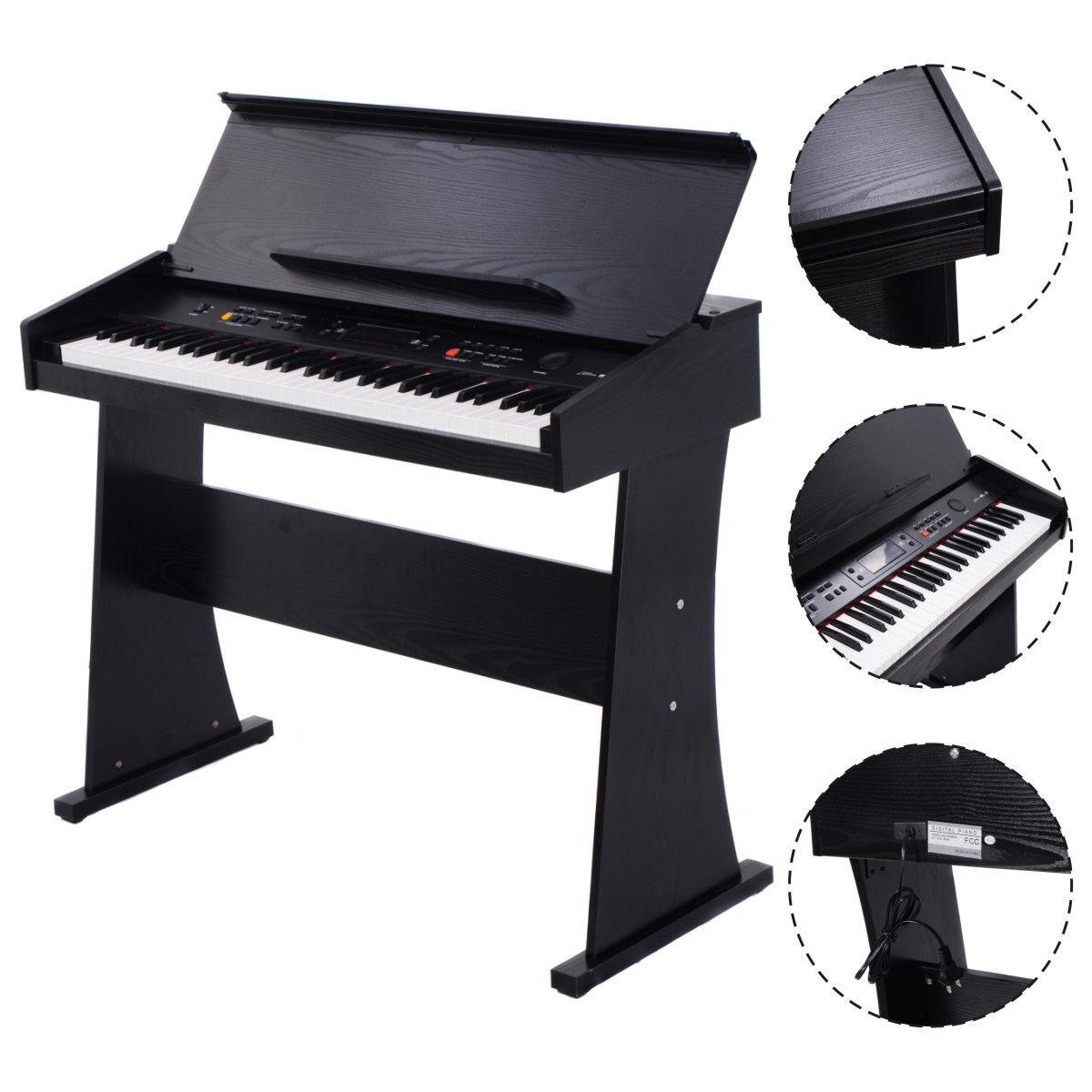 Click here to buy Costway 61 Key Electronic Piano Keyboard Music Multifunctional Digital LED Display by Costway.