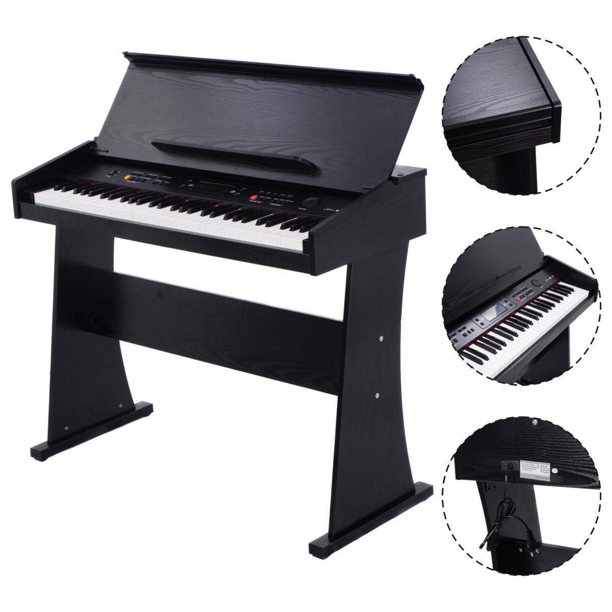 Costway 61 Key Electronic Piano Keyboard Music Multifunctional Digital LED Display by Costway