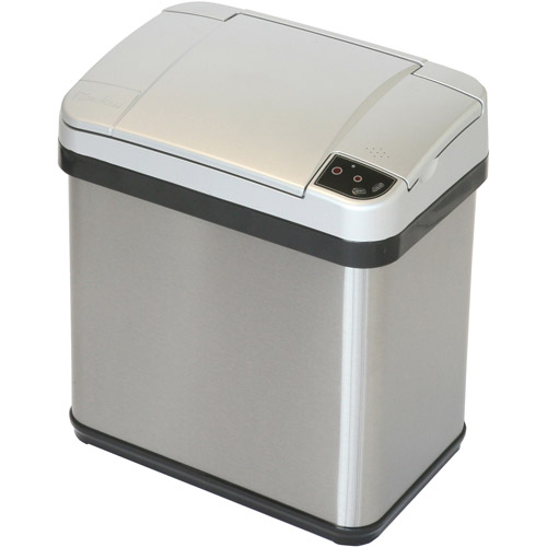 iTouchless 2.5-Gal Multifunction Sensor Trash Can, Stainless Steel