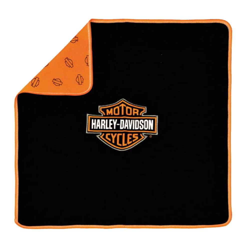 harley-davidson baby boys' bar & shield receiving blanket, black