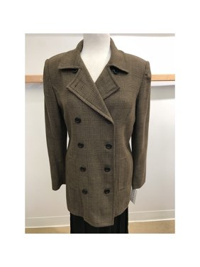 e512f1d647b954 Product Image Brown Glenn Plaid Double Breasted Light Weight Wool Outerwear  Jacket (Style# 9223)