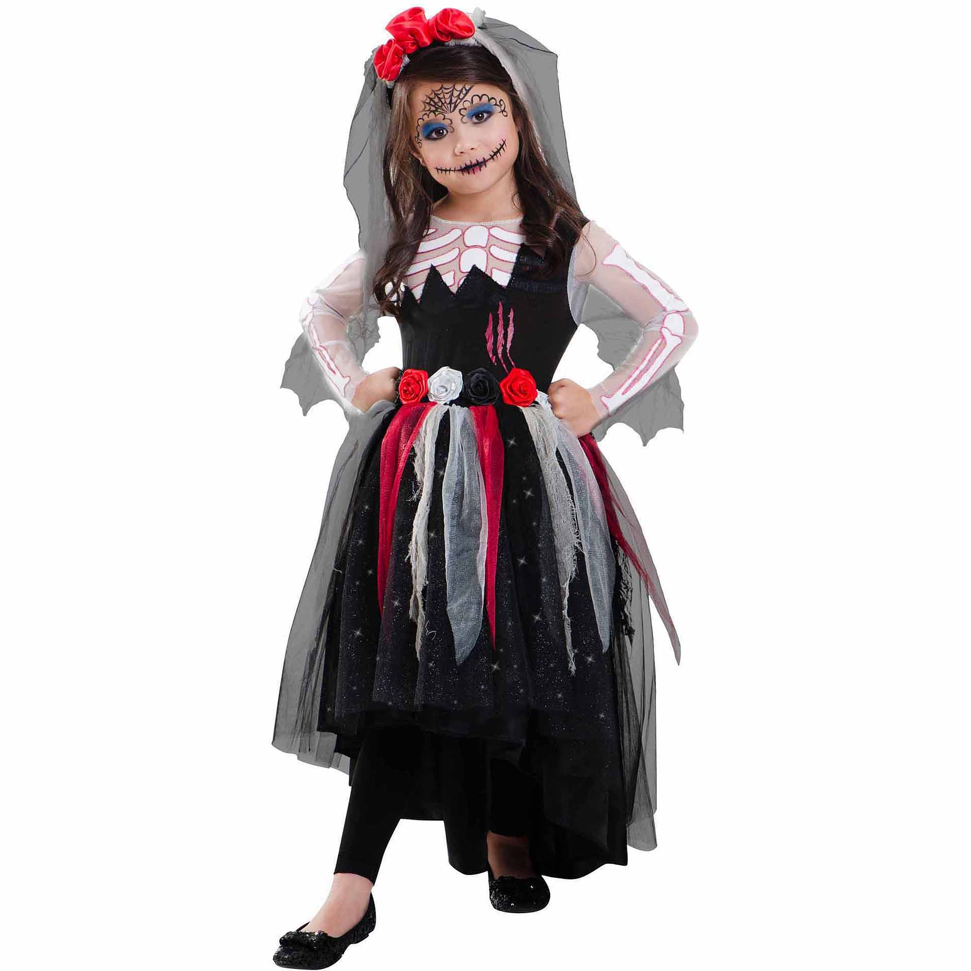 day of the dead child halloween costume walmartcom - Walmart Halloween Costumes For Baby