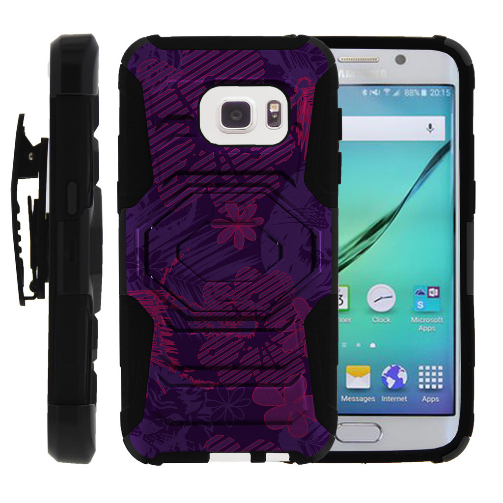 Samsung Galaxy S7 Case | S7 Phone Case [SM-G930] [ Armor Reloaded ] Rugged Cell Phone Case with Kickstand + Belt Clip - Purple Lion Roar