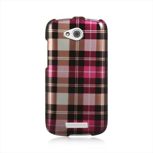 HTC One VX Case, by DreamWireless Rubber Coated Hard Snap-in Case Cover For HTC One VX, Hot Pink
