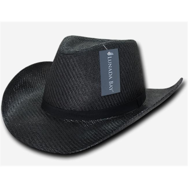 Decky 539-PL-BLK-06 Paper Mesh Cowboy hat Plain Small Medium - Black 15a4a25fa965
