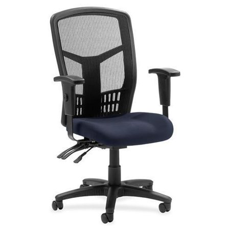 Lorell Executive Mesh Back Chair Mesh Fabric Periwinkle Seat Frame Series