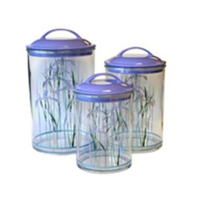 Reston Lloyd Shadow Iris3Pc. Acrylic Canister SetCorelle
