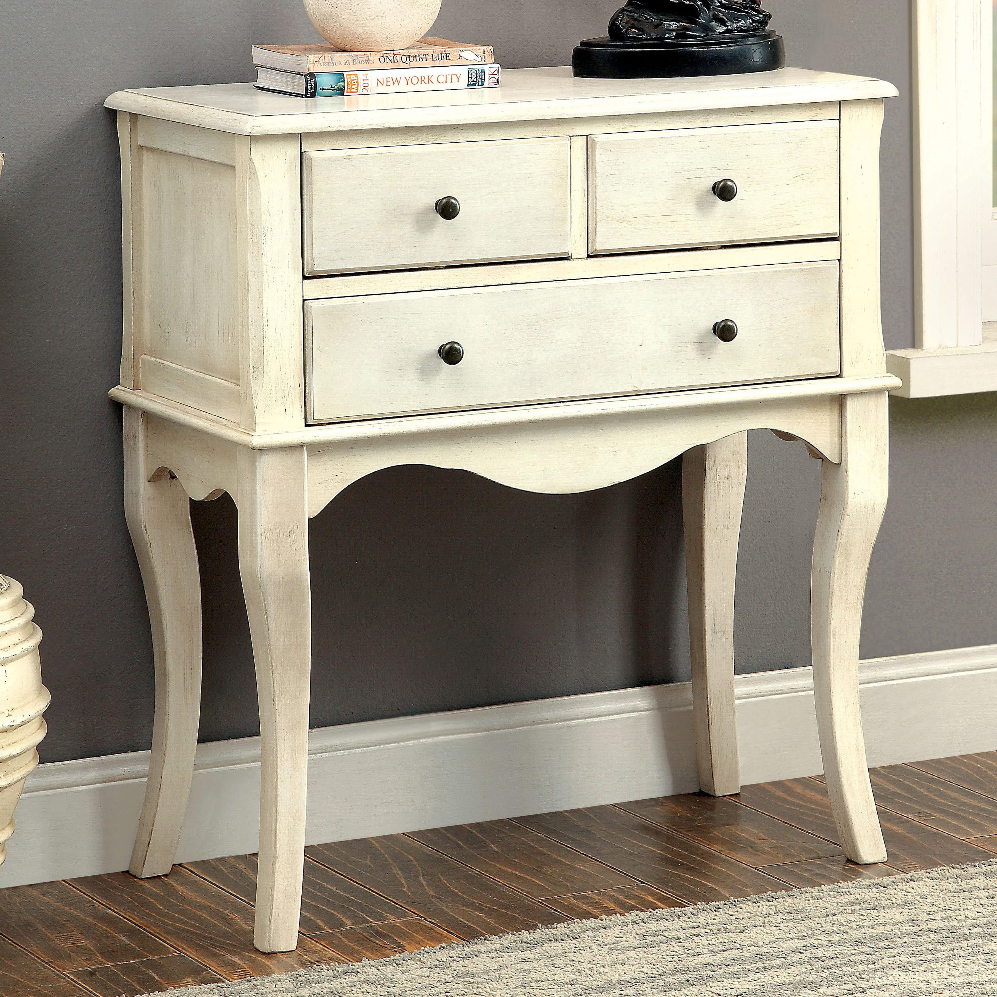 entrance table with drawers. Furniture Of America Eloisa Vintage Style 3-drawer Hallway Table Entrance With Drawers B