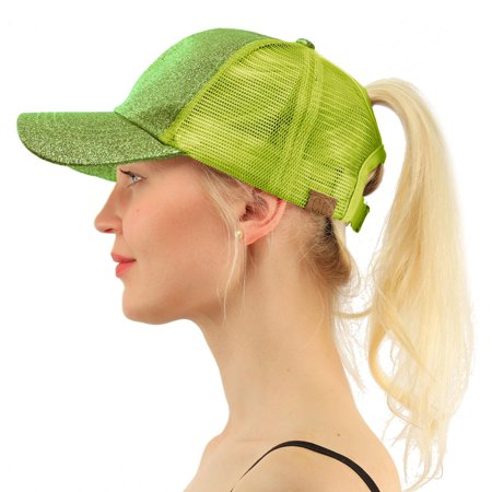 C.C Ponytail Messy Buns Trucker Ponycaps Plain Baseball Visor Cap Dad Hat Rose Trucker Hat