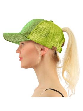 a75fd656ed27 Product Image C.C Ponytail Messy Buns Trucker Ponycaps Plain Baseball Visor  Cap Dad Hat