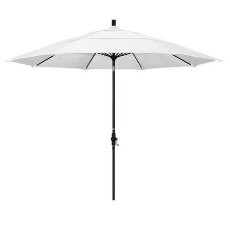 California Umbrella 11 ft. Fiberglass Double Vent Sunbrella Tilt Market Umbrella