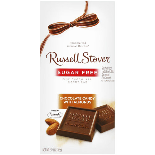 Russell Stover Sugar Free Chocolate With Almonds, 2.87 oz