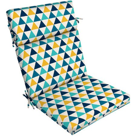 """Mainstays Triangles 44""""L x 21""""W Outdoor Patio Dining Chair Cushion"""
