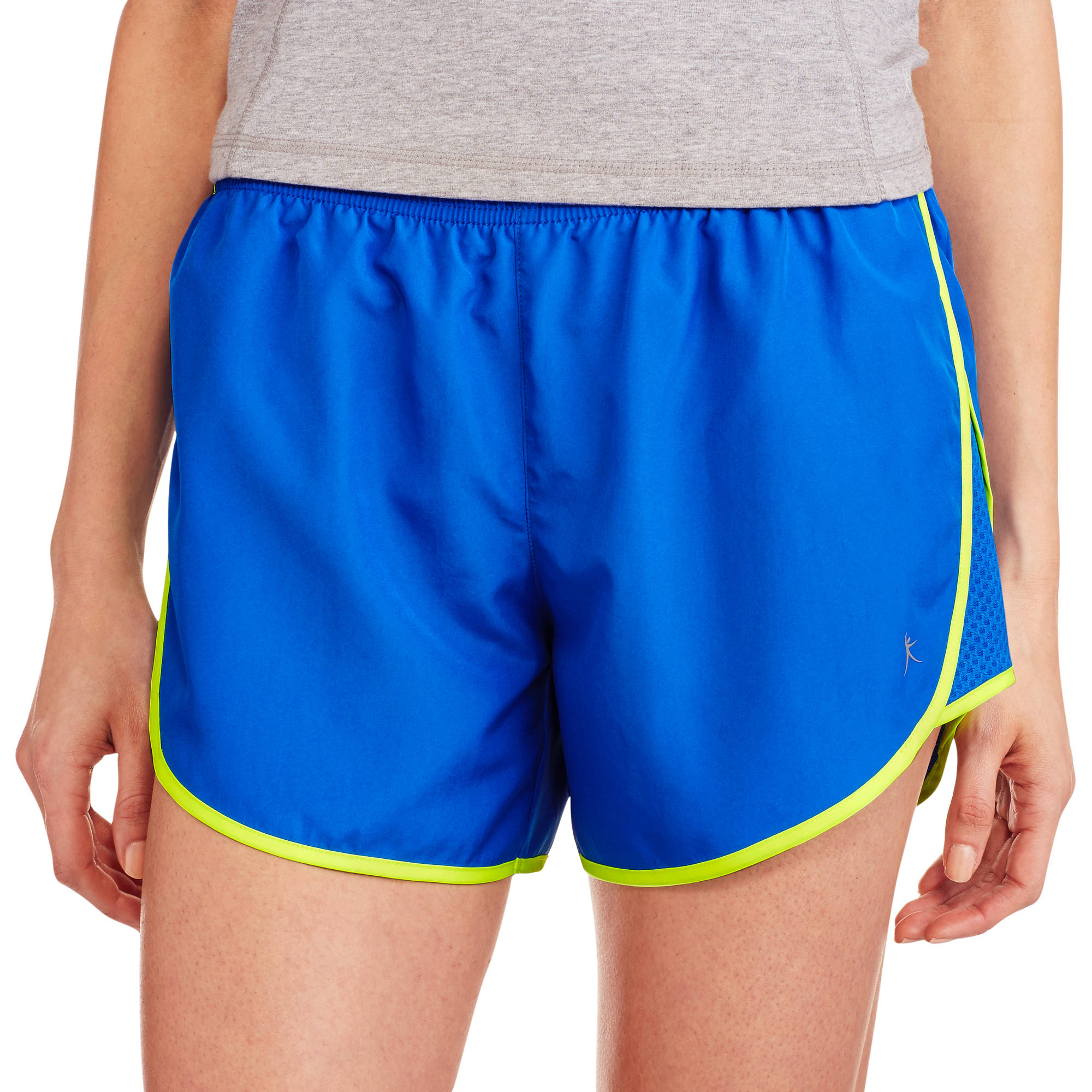 Danskin Now Women's Dolphin Woven Running Short with hidden Liner