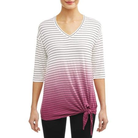 Women's Striped Dipped Dye T-Shirt (Best Striped T Shirt)