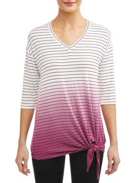 39657dd09 Product Image Women's Striped Dipped Dye T-Shirt