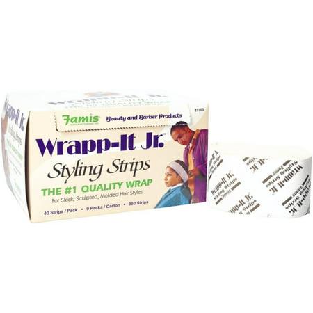 Graham Professional Beauty Wrapp-It Jr Styling Strips, White, 9 Packs 360 ea