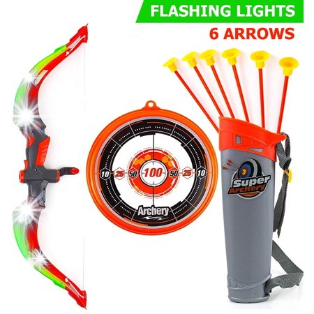 Toysery Bow and Arrow Archery Set | Comes with 6 Arrows | Great Outdoor Activity | Learning Aid for Your Child | Easy to Use to Kids | Endless Fun for Children (Bow Easy)