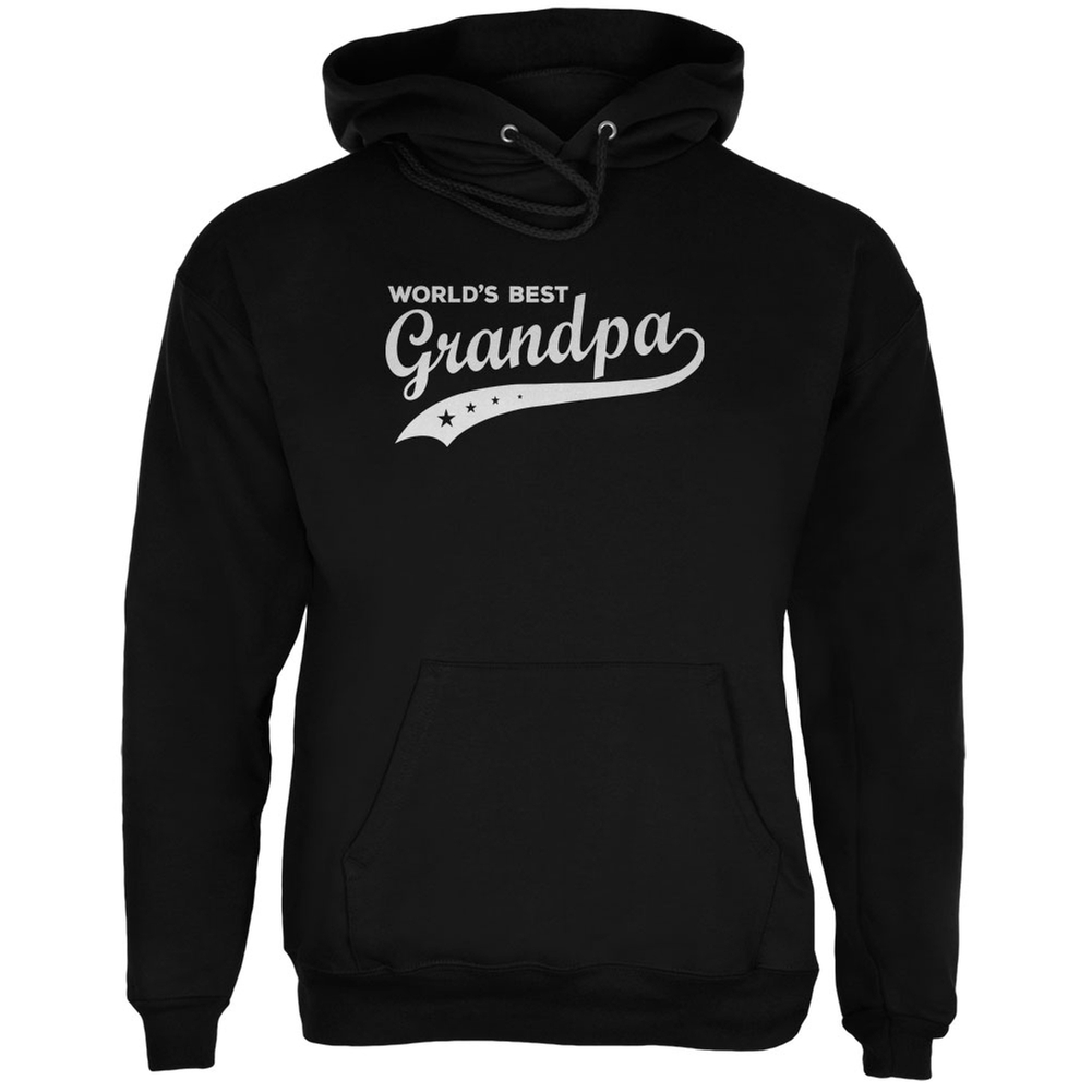 Father's Day - World's Best Grandpa Black Adult Hoodie