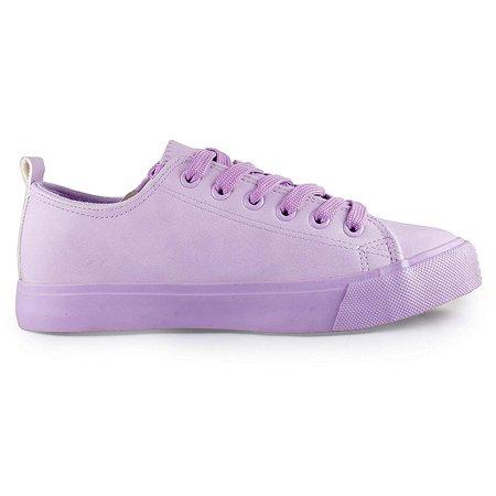 b5c7baf7b1 Shop Pretty Girl - Shop Pretty Girl Women's Casual Canvas Shoes Solid  Colors Low Top Lace up Flat Fashion Sneakers Lilac 10 - Walmart.com