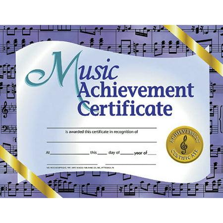 MUSIC ACHIEVEMENT 30/PK 8.5 X 11 CERTIFICATES](Classroom Awards)