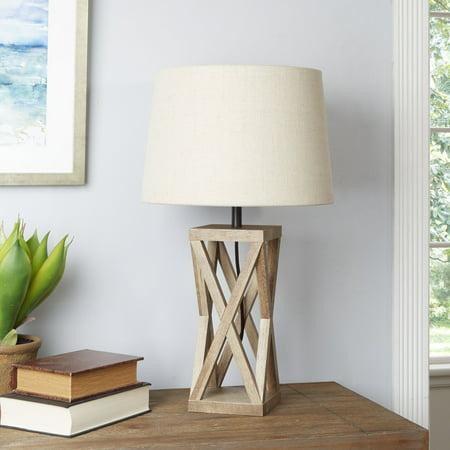 Better Homes & Gardens Wood X Frame Lamp 18.5