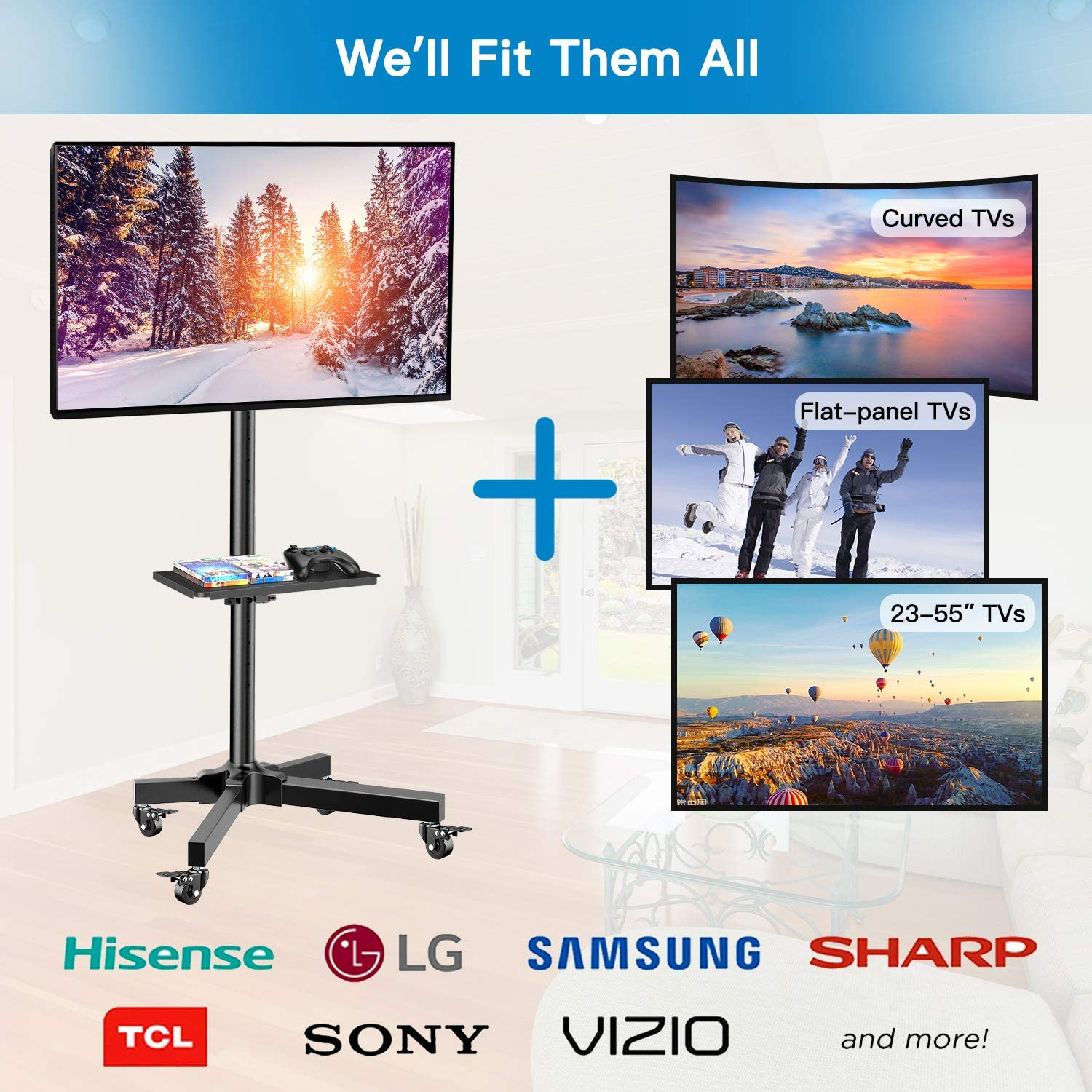ghdonat.com Office Products AV Carts & Stands Height Adjustable TV ...