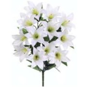 FBL393-WH 21 in. White Easter Lily Bush X12- Case of 12