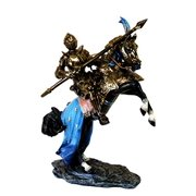 Large Medieval Jostling Lance Knight On Decorated Cavalier Horse Figurine Collectible Statue Decor