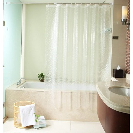 Uforme 48 Inch By 72 Shower Curtain Liner PVC Free Enviromental 3D Cube Bath