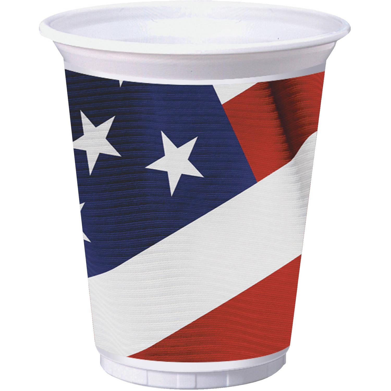 American Valor 16 oz Plastic Cups, 8pk