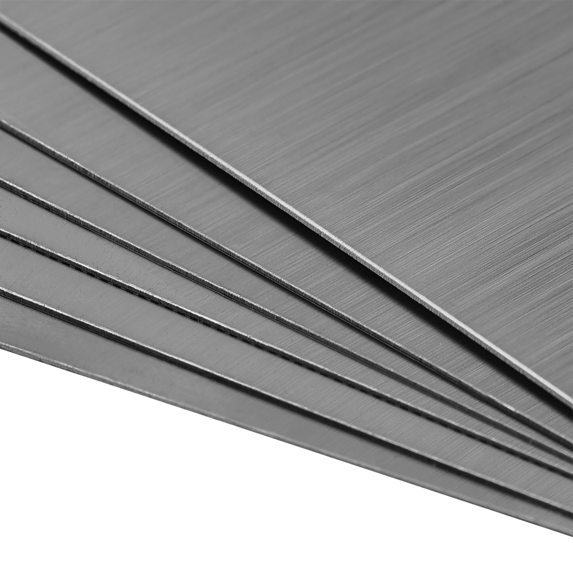 uxcell Blank Metal Business Card 80x40x0.4mm Brushed 201 Stainless Steel Plate for DIY Laser Printing Engraving Dark Gray 10 Pcs
