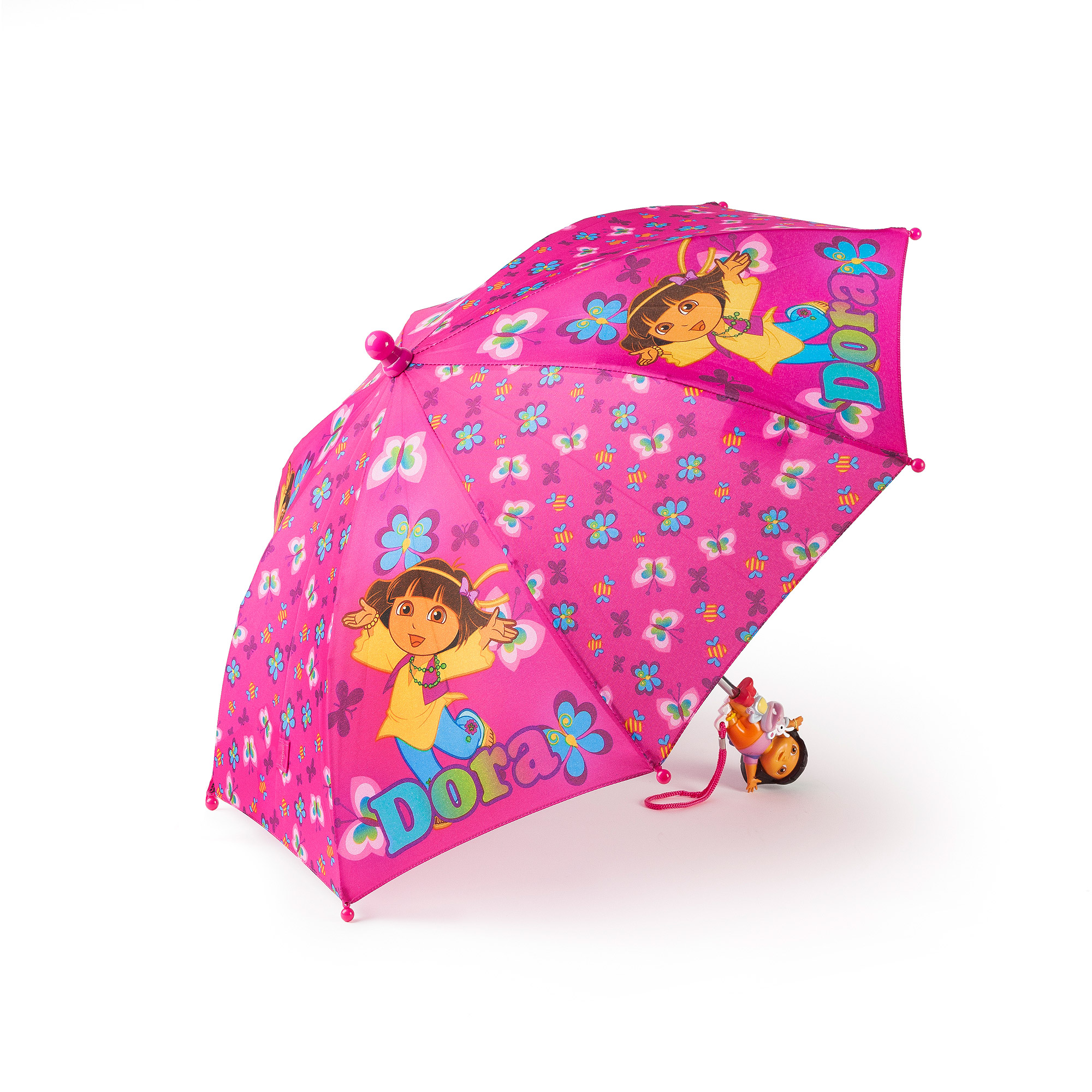 Toddler Girls Nickelodeon Dora the Explorer Pink Fashion Rain Umbrella Ages 3+