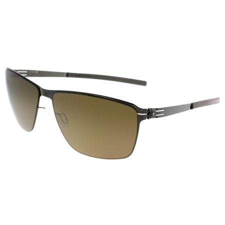 ic! Berlin ic Oli Gunmetal Unisex Rectangle (Berlin Sunglasses)