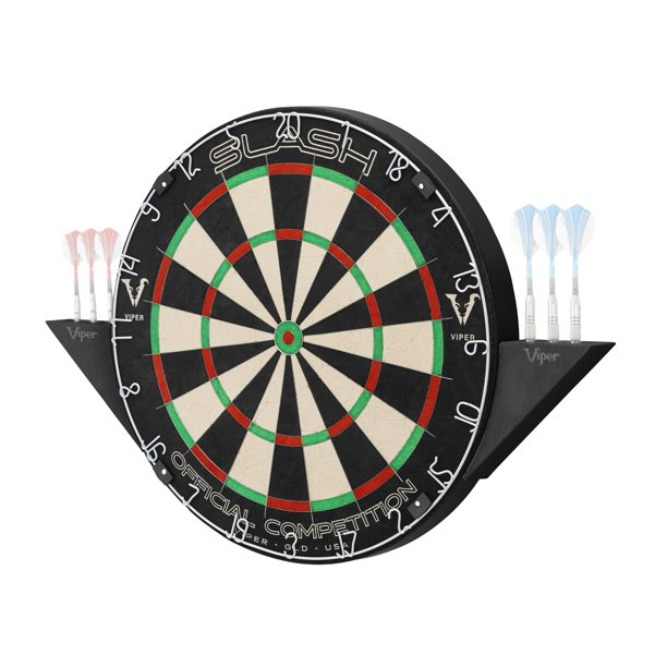 Viper Slash Official Competition Bristle Steel Tip Dartboard Set with Staple-Free Ultra-Thin Metal Wiring, Reduced Bounce Outs; Self-Healing Professional-Grade African Sisal and Magnetic Dart Holders