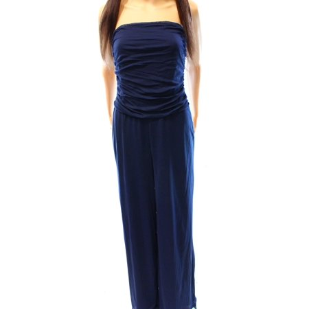 Lauren Ralph Lauren NEW Blue Women's Size XL Mesh Strapless Jumpsuit - Blue Jumpsuit