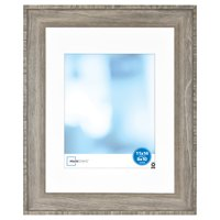 Mainstays 11x14 Inch matted to 8x10 Inch Wood Gallery Frame, Rustic