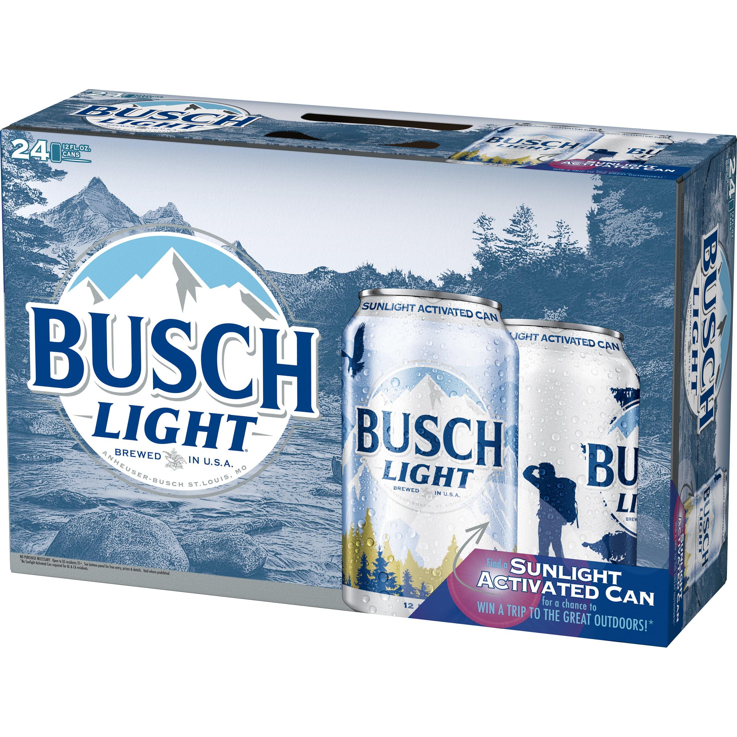 Busch Light® Beer, 24 Pack 12 fl  oz  Cans - Walmart com