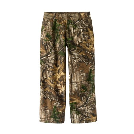 Carhartt Boys Canvas Dungaree Straight-Leg Pants 7 - Size 7, Mustang Brown Carhartt Duck Work Dungaree