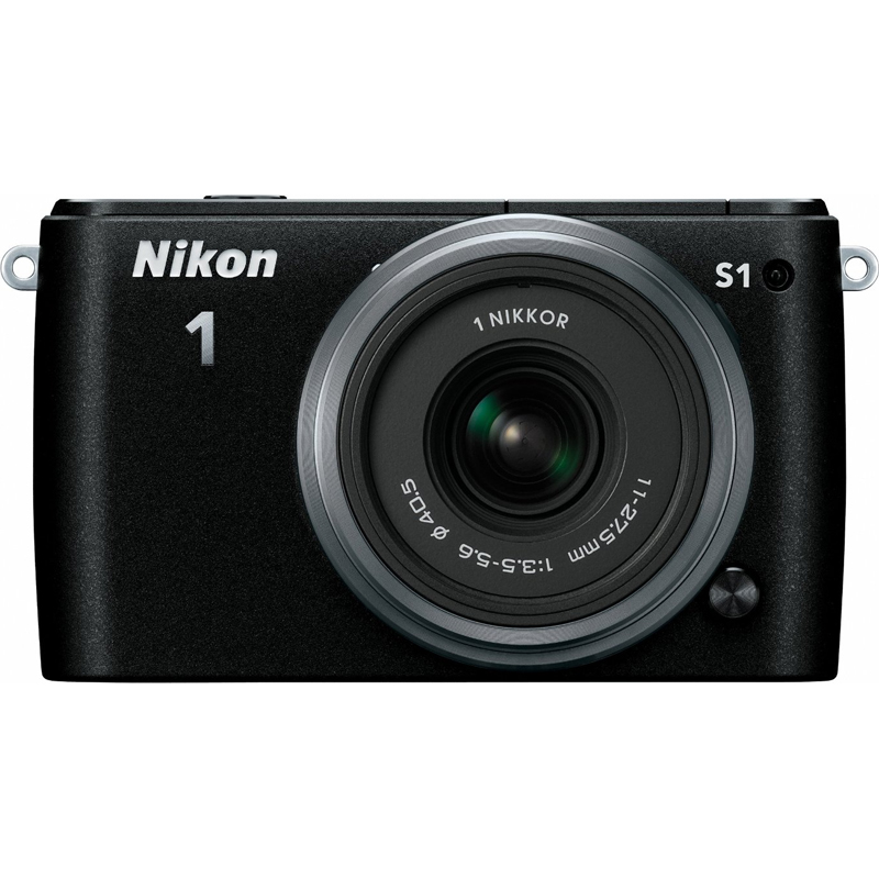 Nikon 1 S1 10.1MP Black Digital Camera with 11-27.5mm Lens