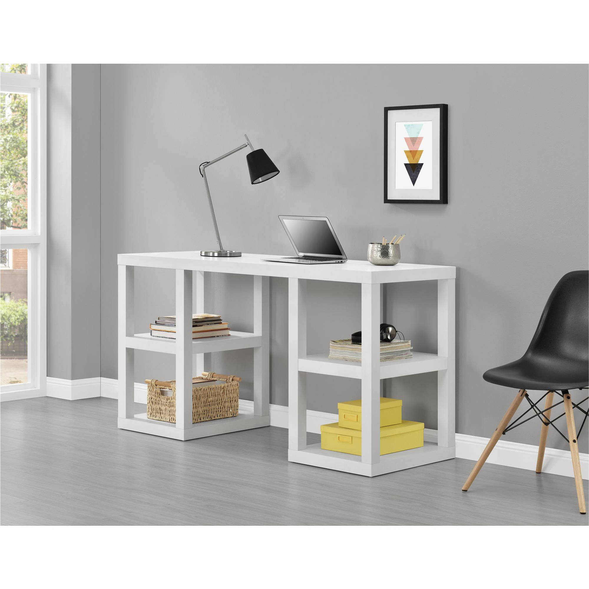 Ameriwood Home Parsons Deluxe Desk, Multiple Colors