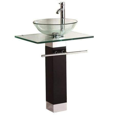 Single Sink Bathroom Pedestal Vanity