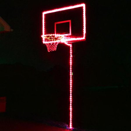 Glow In The Dark Light Up Basketball Hoop Lighting Kit (LED Basketball, Hoop And Rim Not Included) - Red