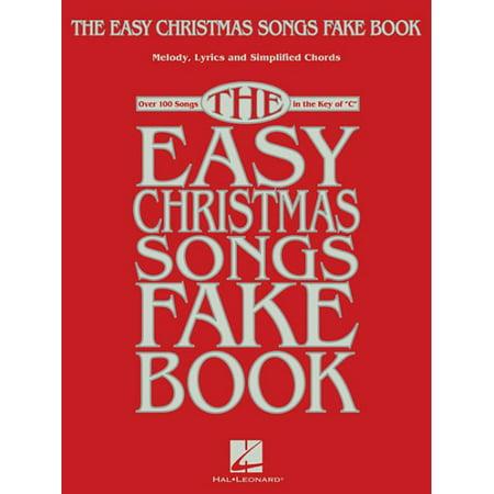 - The Easy Christmas Songs Fake Book
