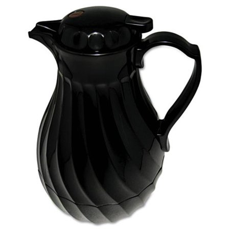 Hormel Corp 4022B Poly Lined Carafe, Swirl Design, 40oz Capacity, Black