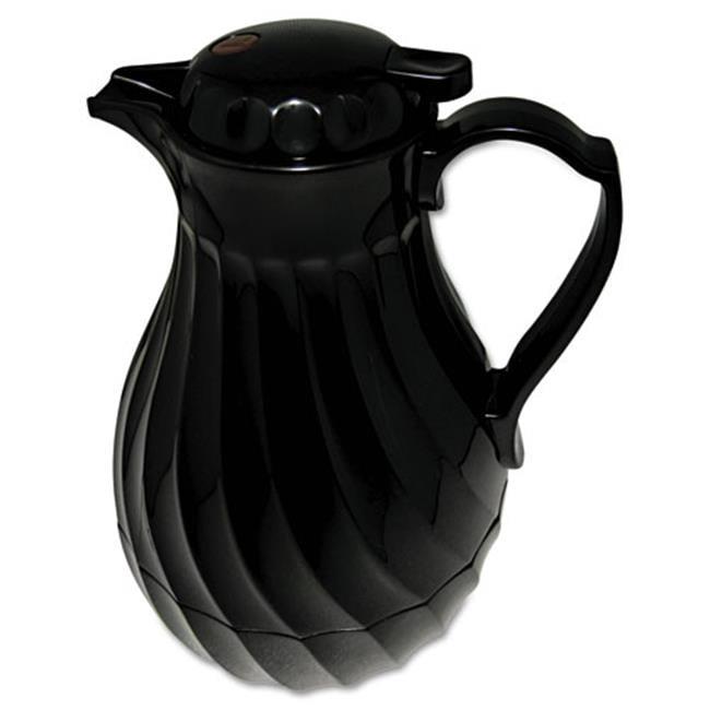 Hormel Corp 4022B Poly Lined Carafe, Swirl Design, 40oz Capacity, Black