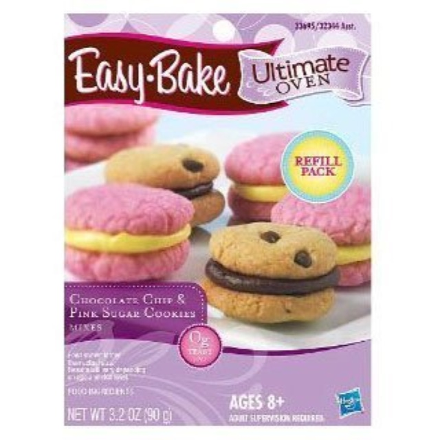 Easy-Bake Refill Cookie Chocolate Chip & Pink Sugar Cookies by Easy-Bake