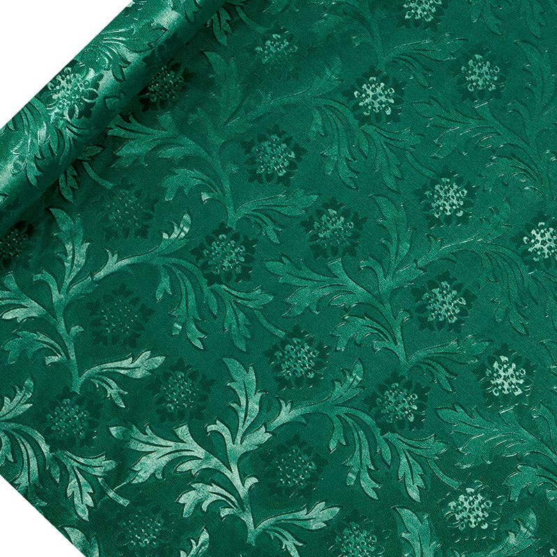 """Hunter Green Embossed Floral Foil 20"""" X 10 Yards by Paper Mart"""