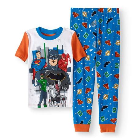 Boys' Glow In The Dark 2 Piece Pajama Set