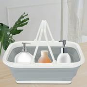 Greensen Plastic Vegetable Basket,Portable Folding Plastic Basket Vegetables Fruits Storage Container Market Shopping Bucket, Portable Plastic Basket